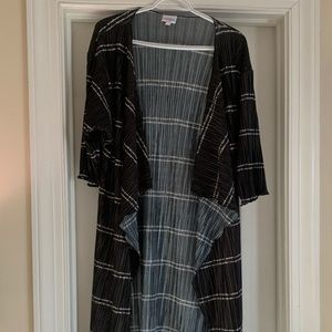 LulaRoe Black and White Chiffon Shirley